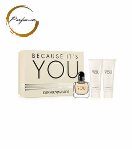 Giorgio Armani Emporio Because It's You Set (EDP 50 ml + BL 75 ml + SG 75 ml)