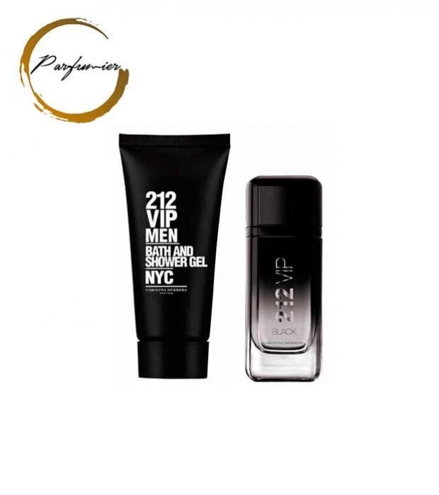 Carolina Herrera 212 Vip Black Man Set (EDP 100 ml + SG 100 ml)