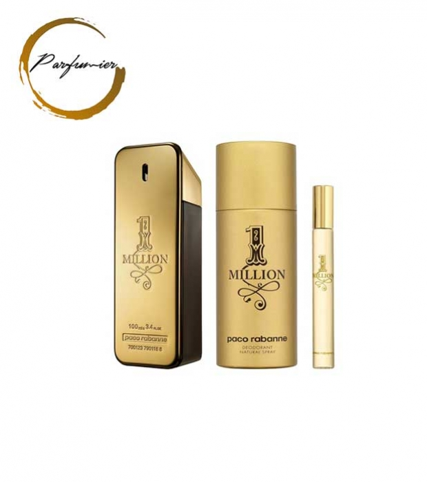 Paco Rabanne 1 Million Set (EDT 100 ml + Deospray 150 ml + EDT 10 ml)