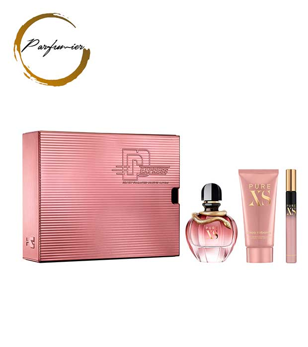 Paco Rabanne Pure XS For Her Set (EDP 80 ml + BL 100 ml + EDP 10 ml)
