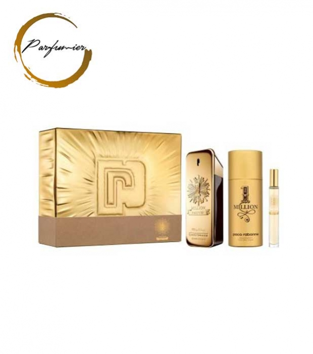 Paco Rabanne 1 Million Parfum Set (EDP 100ml + Deo 150ml + EDP 10ml )